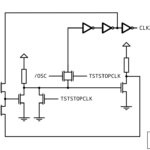 Transistor-level circuit of the OSC2 clock divider