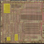 VLM5030 die, highlighted ROMs